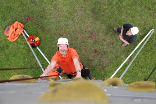 CCC events Climbing and abseiling team building events