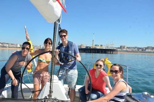 Teams set sail from Brighton Marina