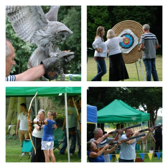 Team Building in Cambridgeshire - Country Pursuits at Orton Hall; laser clay pigeon shooting; archery; falconry